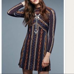 Free People Stella Long Sleeve Mini Dress. Size S.